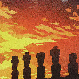 Ryan Fox - Easter Island Sunset