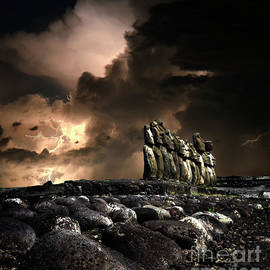 Easter Island Where Heaven Meets The Earth by Bob Christopher