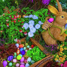 Easter Rabbit In Garden by Garry Gay