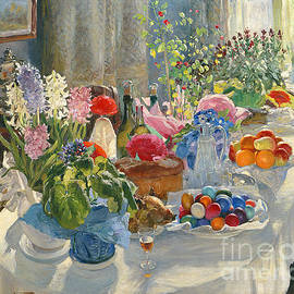 Alexander Vladimirovich Makovsky - Easter Table