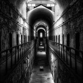 Eastern State Penitentiary in Black and White by Priscilla Burgers