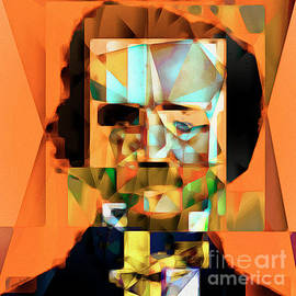 Wingsdomain Art and Photography - Edgar Allan Poe in Abstract Cubism 20170325 square