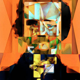 Wingsdomain Art and Photography - Edgar Allan Poe in Abstract Cubism 20170325