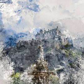 Ann Garrett - Edinburgh Castle from Princes Street Gardens, Edinburgh