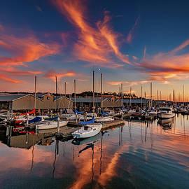 Edmonds Marina Sunset by Mike Penney