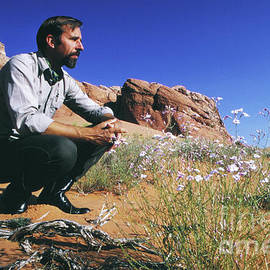 Edward Abbey, author of Desert Solitaire, shown here in the dese - The Harrington Collection