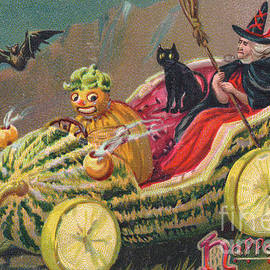 Edwardian halloween card - English School