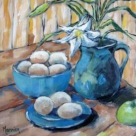 Eggs and lily by Cathy MONNIER