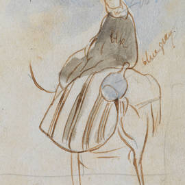 Egpytian Man on Camel - Edward Lear