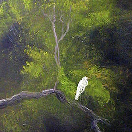 Egret in Repose by Sunny Franson