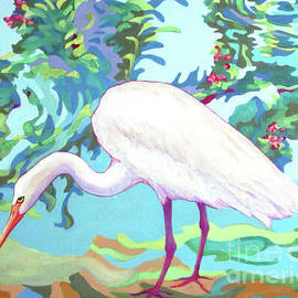 Egret INGRID by Sharon Nelson-Bianco