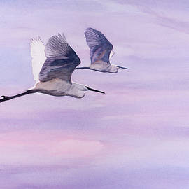 Egrets at Dawn by Christopher Reid