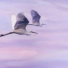 Christopher Reid - Egrets at Dawn