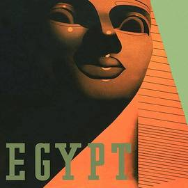 Studio Grafiikka - Egypt for Winter Sunshine - Sphinx of Giza - Retro travel Poster - Vintage Poster