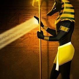 Egyptian God Anubis by John Wills
