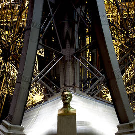 Eiffel at Tower Base by Michael Riley