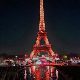 Eiffel in Red by Edna W
