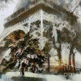 Eiffel In The Snow by Dragica Micki Fortuna