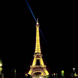 Eiffel Reaching Out at Night by Michael Riley