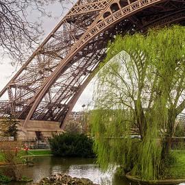 Eiffel Tower Paris Footprint  by Joan Carroll