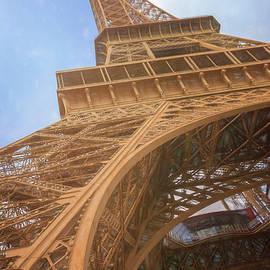Eiffel Tower From Below II Sketch by Joan Carroll