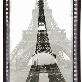 Eiffel Tower on  A Negative . by Cyril Jayant