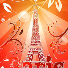 Eiffel tower by Sandra Hoefer