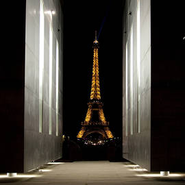 Eiffel Tower Through Peace Monument by Michael Riley