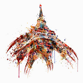Eiffel Tower Watercolor by Marian Voicu