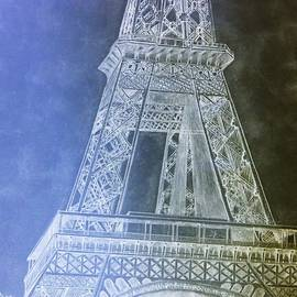 Eiffil Tower inverted by Irving Starr