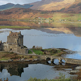 Eilean Donan Castle in Autumn - Panorama by Maria Gaellman