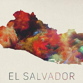Design Turnpike - El Salvador Watercolor Map