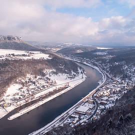 Jenny Rainbow - Elbe Valley with Mountain Pfaffenstein