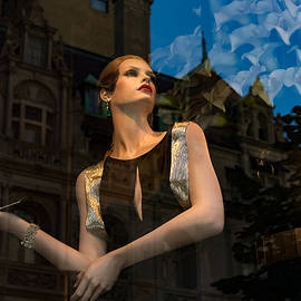 Elegance Glamour and Chic - High Fashion Shop Window Reflections