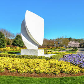 Elements Sculpture At Christopher Newport University In Springtime by Ola Allen