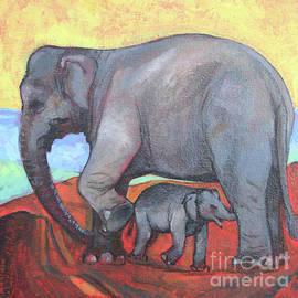 Elephant Mother And Baby by Manjula Karunathilaka