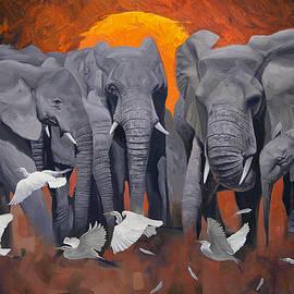 Elephants by Atanasov Art