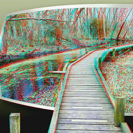 Elevated Trail - OOF 3D Anaglyph by Brian Wallace