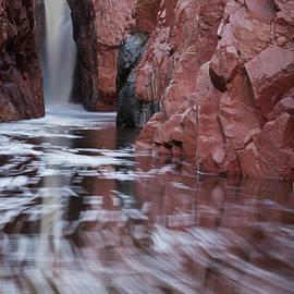 Waterfall on Ellison Creek, Arizona by Dave Wilson