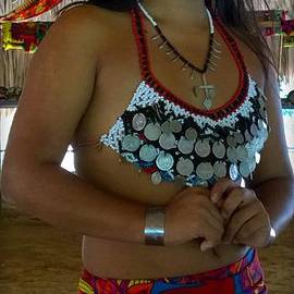Embera Indian teen  by Jennifer E Doll