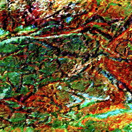 Dana Roper - Emerald Impressions Abstract