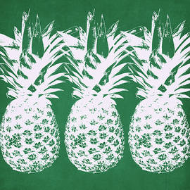 Linda Woods - Emerald Pineapples- Art by Linda Woods