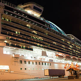 Emerald Princess In Victoria Bc Canada by Michael Bessler