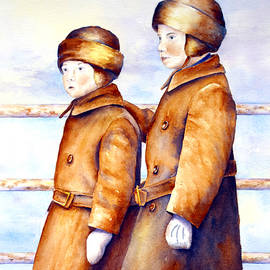 Emigrant Boys - Ellis Island by Marsha Karle