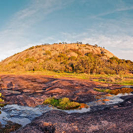 Silvio Ligutti - Enchanted Rock Bathed in Golden Hour Sunset Light - Fredericksburg Texas Hill Country