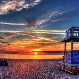 Reid Callaway - Endless Summer Sunrise Lifeguard Stand Tybee Island Georgia Art