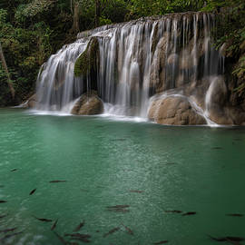 Erawan Falls 2nd Falls 2 by Scott Cunningham