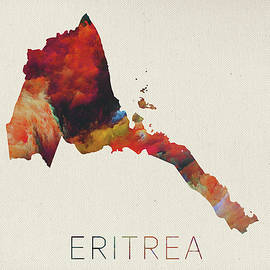 Design Turnpike - Eritrea Watercolor Map