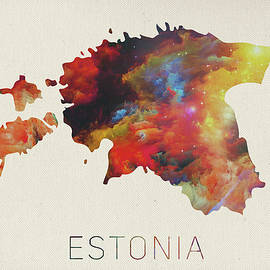 Design Turnpike - Estonia Watercolor Map