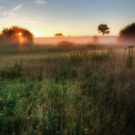 Ethereal Sunrise Square by Bill Wakeley